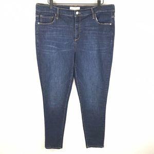 Gap 16 Long Dark Blue True Skinny Jeans
